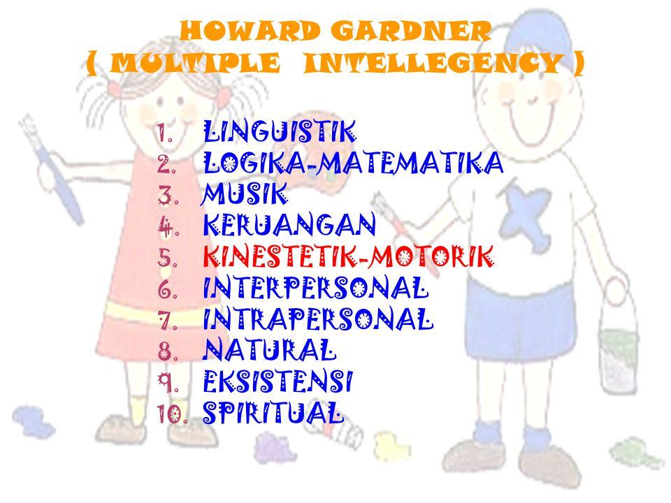 HOWARD GARDNER ( MULTIPLE INTELLEGENCY ) 1.LINGUISTIK 2.