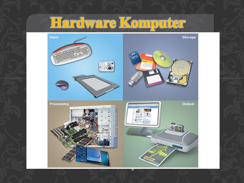 Perangkat Output  Kirim data diproses keluar dari komputer  Monitors  Printers  Perangkat Output membuat :  Soft copies (video, sounds, control signals)  Hard copies (print) 19
