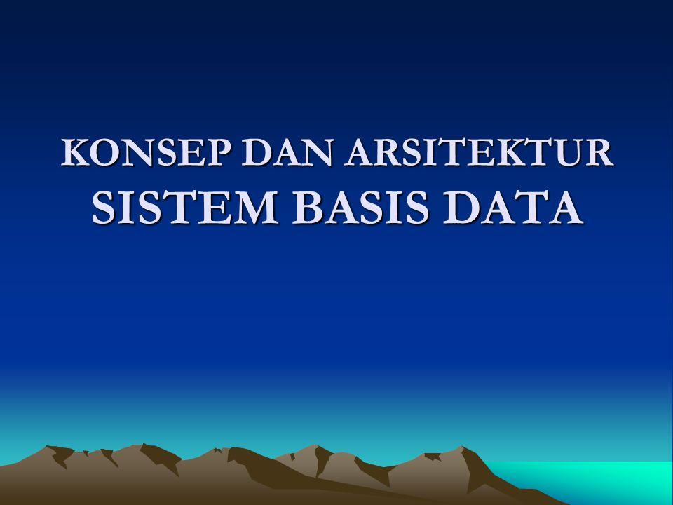 MODEL-MODEL DATA - SCHEMA - INSTANCE Model data merupakan alat utama untuk menyediakan abstraksi data.