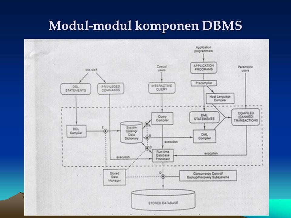 Modul-modul komponen DBMS