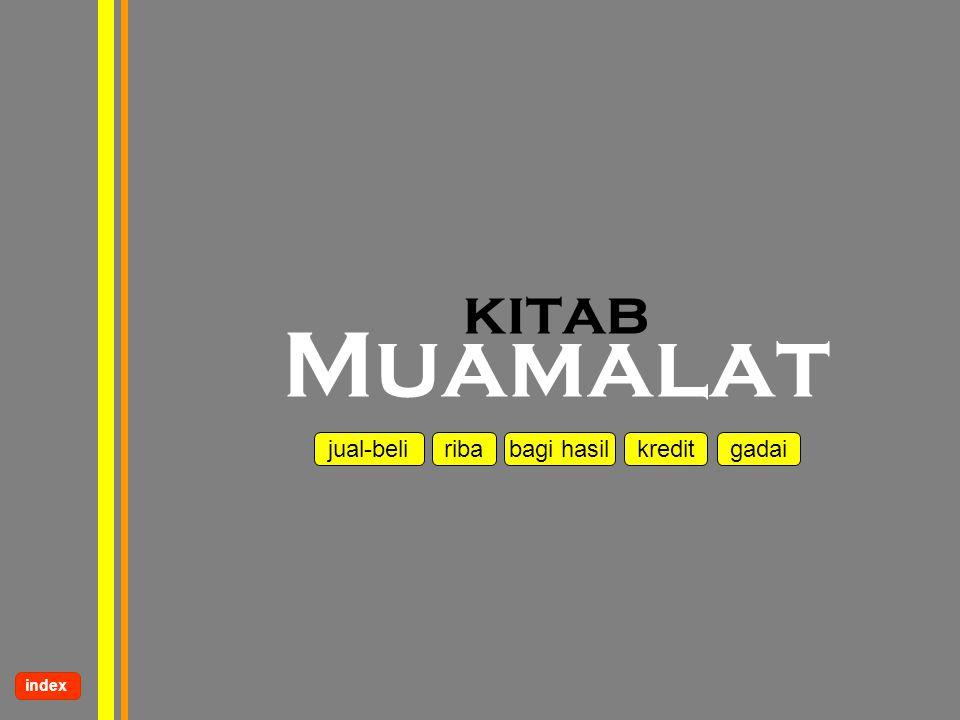 www.kampussyariah.com kitab Muamalat jual-beli riba kredit bagi hasilgadai index