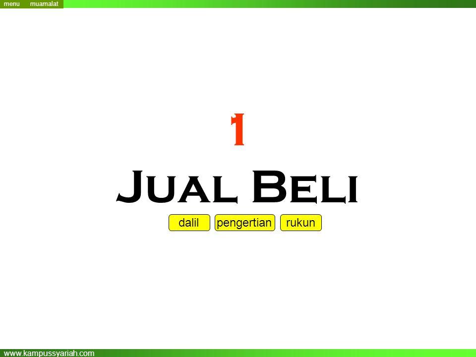 www.kampussyariah.com 1 Jual Beli menu dalil pengertian rukun muamalat