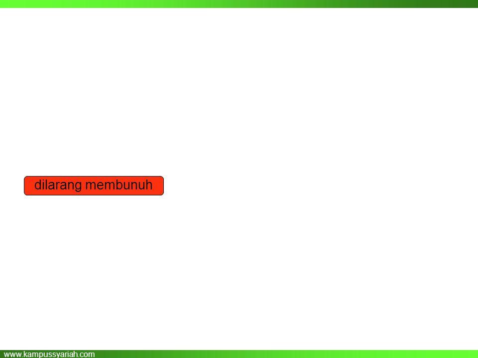 www.kampussyariah.com dilarang membunuh