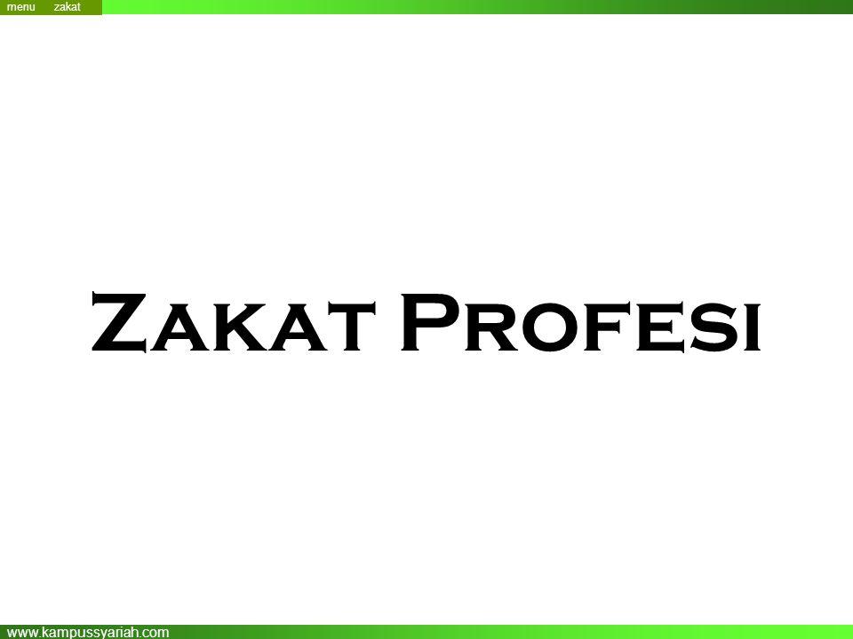 www.kampussyariah.com Zakat Profesi menu menu zakat