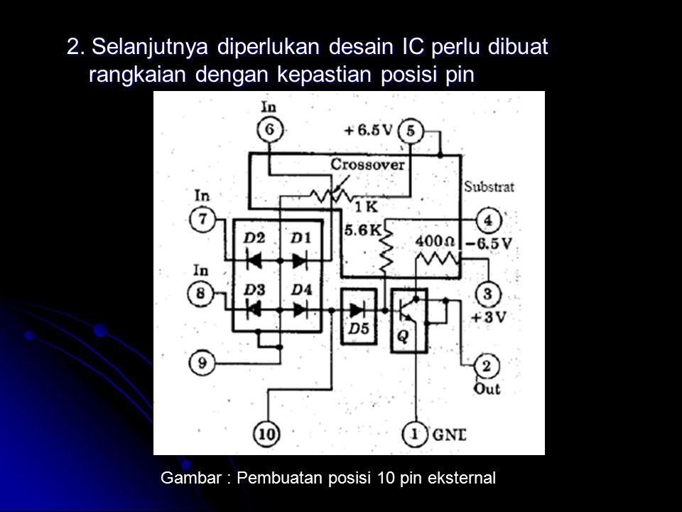 2. Selanjutnya diperlukan desain IC perlu dibuat rangkaian dengan kepastian posisi pin Gambar : Pembuatan posisi 10 pin eksternal