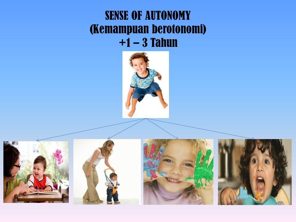 SENSE OF INITIATIVE (Kemampuan menyelesaikan tugas) +4 – 6 Tahun