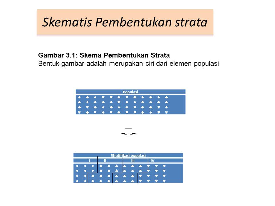 Skematis Pembentukan strata Populasi                                   Stratifikasi populasi I II III IV      
