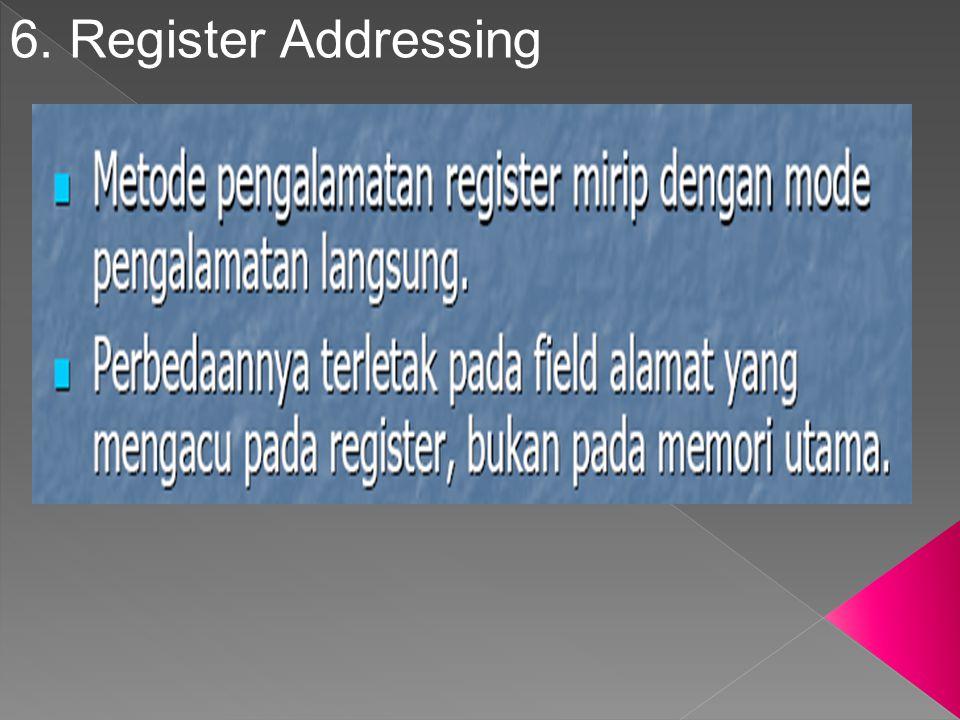 6. Register Addressing
