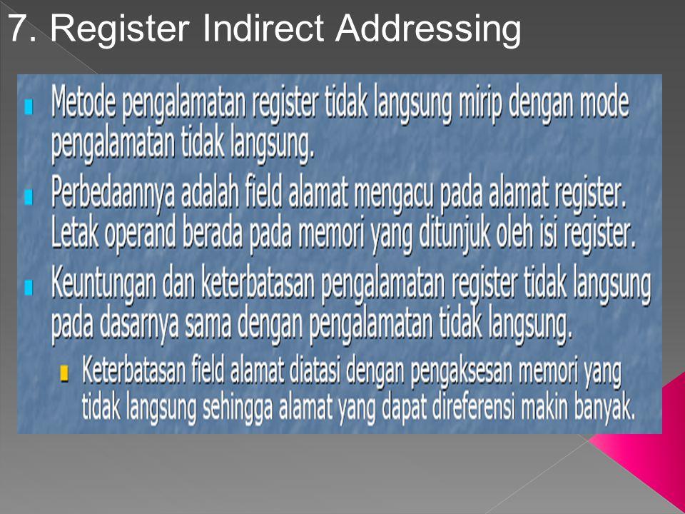 7. Register Indirect Addressing