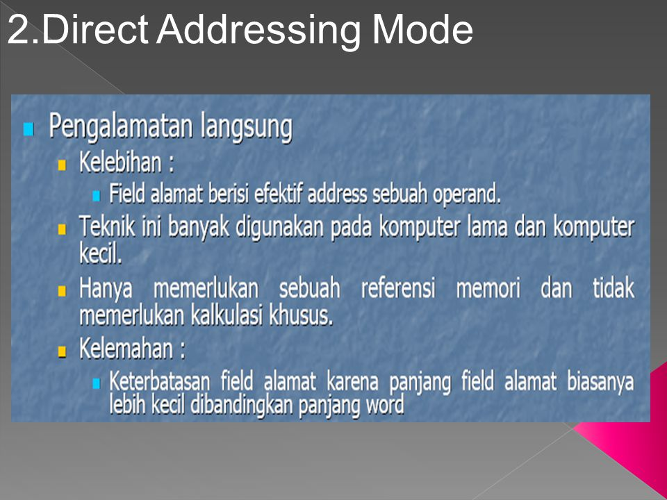 2.Direct Addressing Mode