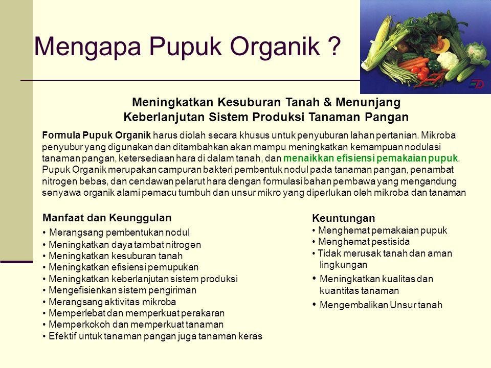 Mengapa Pupuk Organik .