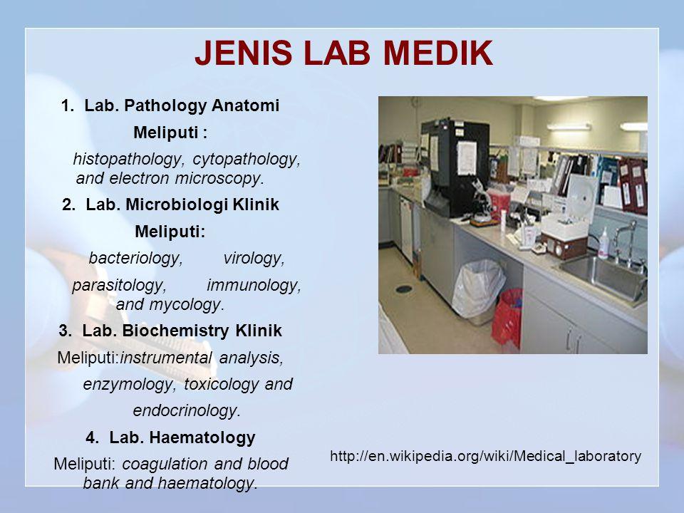 JENIS LAB MEDIK 1.Lab.