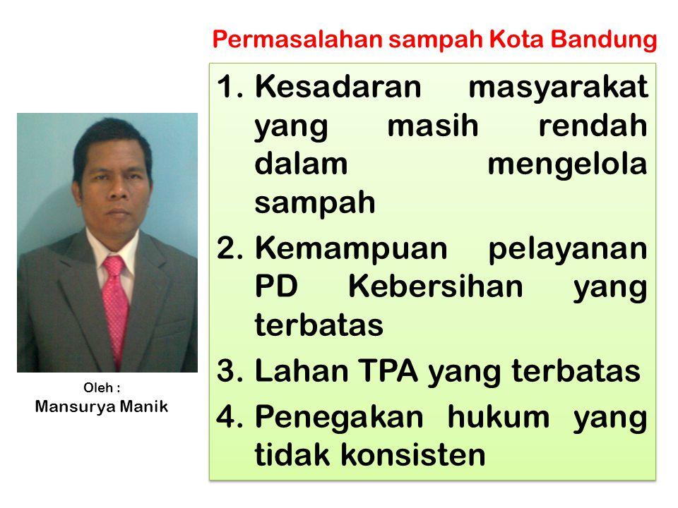 Di TPA Leuwigajah Cimahi Longsoran buangan sampah warga Kota Bandung mengakibatkan 150 orang mati tertimbun sampah (tahun2005)