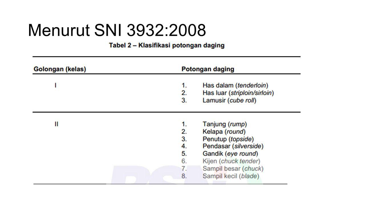 Menurut SNI 3932:2008