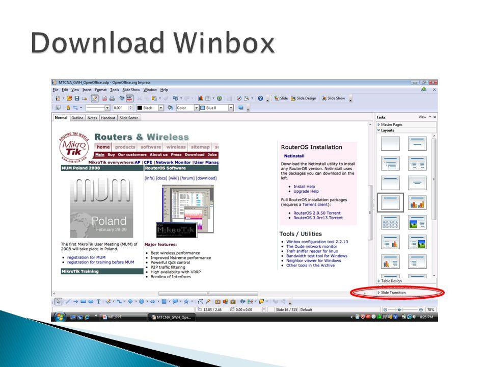  Konfigurasi router juga dapat dibackup menggunakan Command Line export, dan direstore melalui perintah import, file hasil backup melalui export ini berupa file text sehingga mudah diedit, dan disimpan di menu Files.