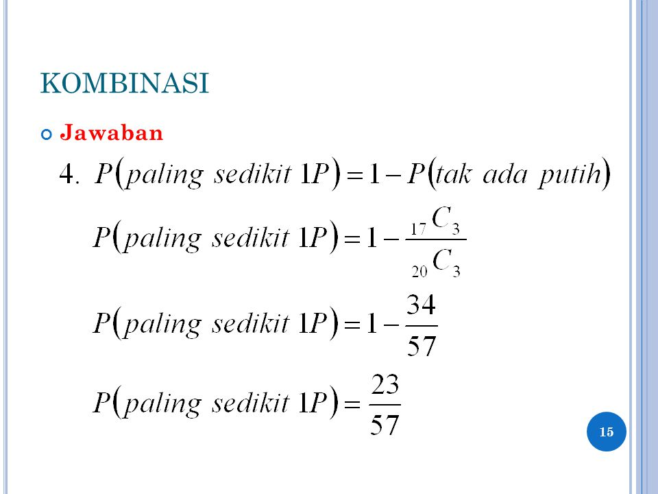 KOMBINASI Jawaban 15