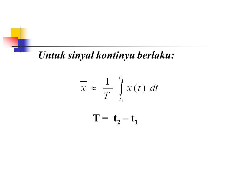 Mean Value (Nilai Rata-rata) dari N nilai x adalah: =