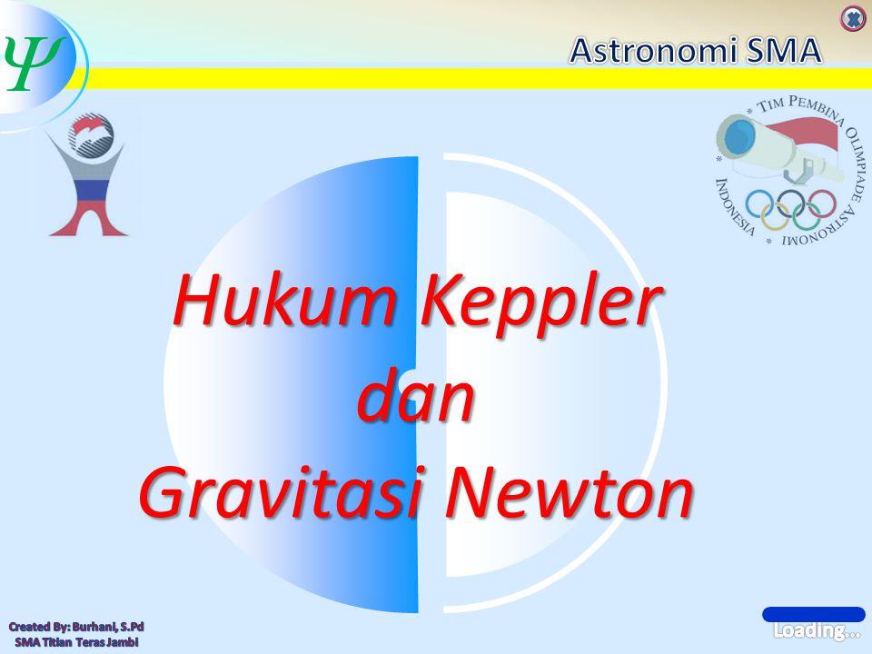  Latihan Soal Hitung massa Matahari, jika periode Venus 224,7 hari dan sumbu semi mayornya 108,2x10 6 km (dalam MKS) (Key : 1,99x10 30 kg) Sebuah komet Halley mempunyai periode 76 tahun.