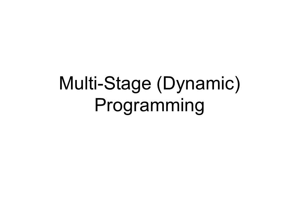 Dynamic Programming Biasanya masalah RO diselesaikan secara tunggal dan sekaligus ( sekali pukul) DP intinya memecah (mendekomposisi) problem menjadi subproblem yang lebih kecil dan kemudian menggabungkan (mengkomposisi) kembali subproblem2 tsb untuk mendapatkan jawaban yang diinginkan