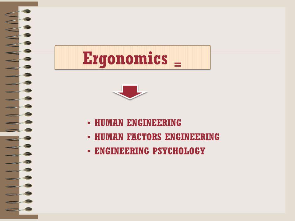 Menurut (Departemen Kesehatan RI, 2007), Ergonomi yaitu ilmu yang mempelajari perilaku manusia dalam kaitannya dengan pekerjaan mereka. Sasaran peneli
