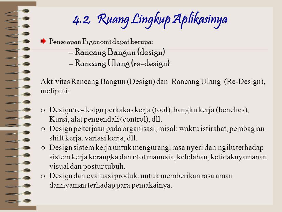 30 5.1. RUANG LINGKUP Fisiologi ERGONOMI Anatomi/ antropometri Disain Manajemen Engineering Psikologi