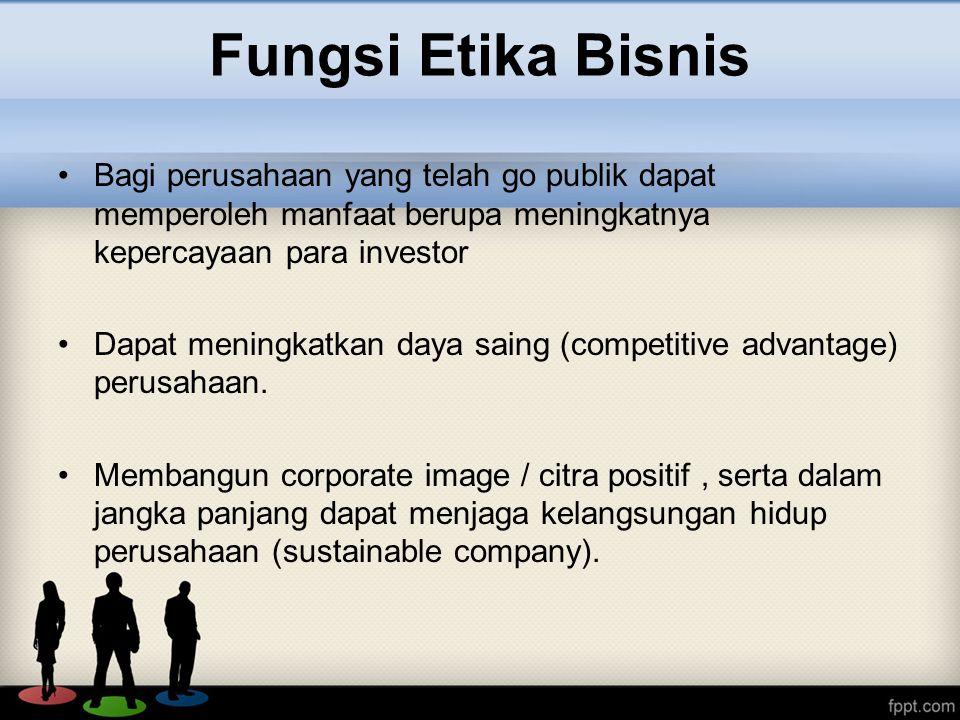 Bagi perusahaan yang telah go publik dapat memperoleh manfaat berupa meningkatnya kepercayaan para investor Dapat meningkatkan daya saing (competitive advantage) perusahaan.