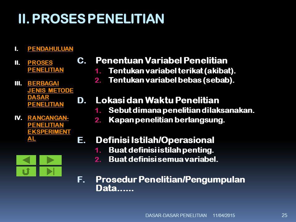 II.PROSES PENELITIAN F.Prosedur Penelitian/Pengumpulan Data 1.