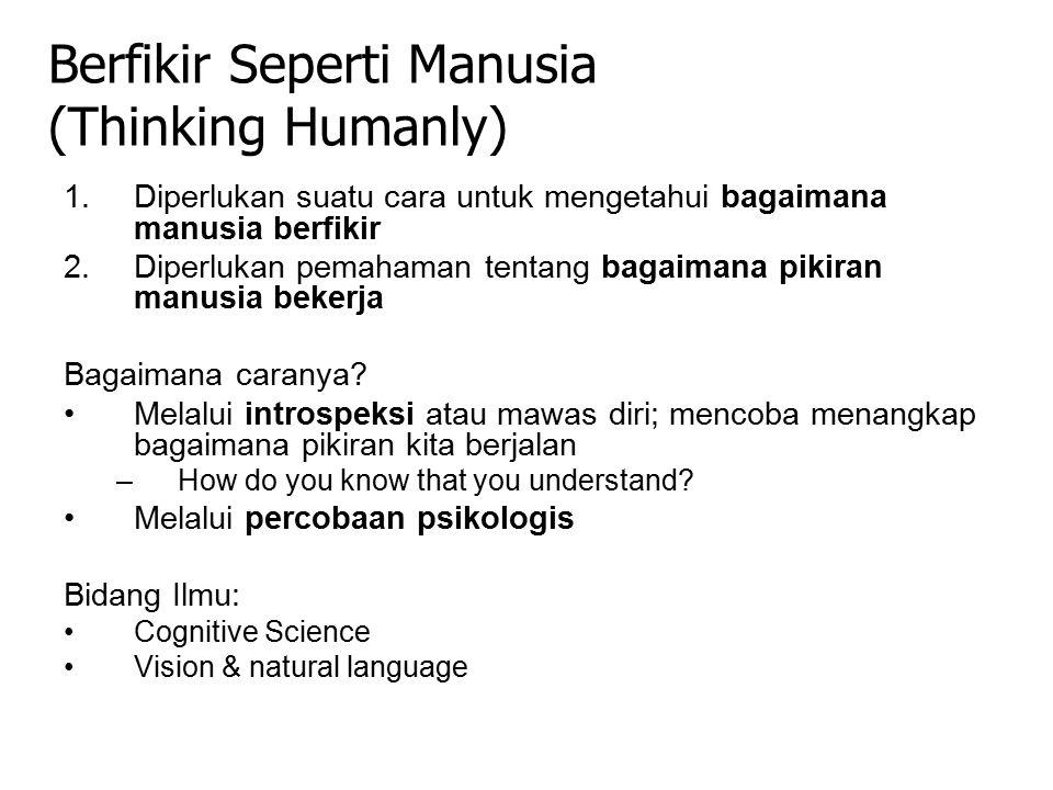 1.Diperlukan suatu cara untuk mengetahui bagaimana manusia berfikir 2.Diperlukan pemahaman tentang bagaimana pikiran manusia bekerja Bagaimana caranya