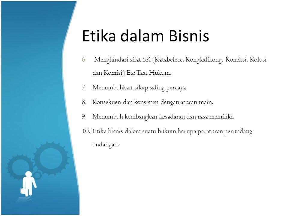 Masalah dalam Etika Bisnis 1.