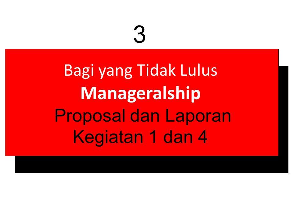 Bagi yang Tidak Lulus Manageralship Proposal dan Laporan Kegiatan 1 dan 4 3
