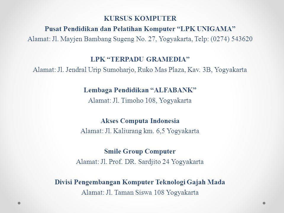 KURSUS SATPAM Pusat Pendidikan Satpam Manggala Pratama Alamat: Jl. Jogja-Solo Km. 14, Kalasan (Barat RS Bayangkara), Yogyakarta, Telp: (0274) 496002,