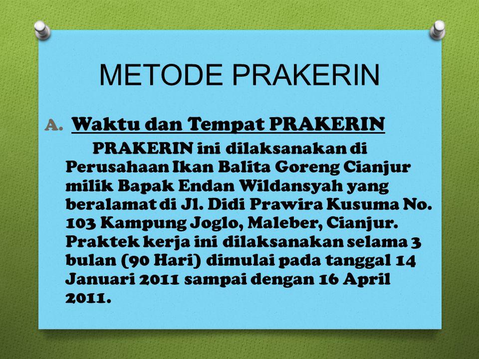 METODE PRAKERIN A.