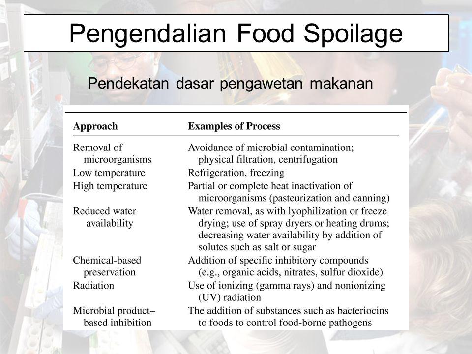 Pengendalian Food Spoilage Pendekatan dasar pengawetan makanan