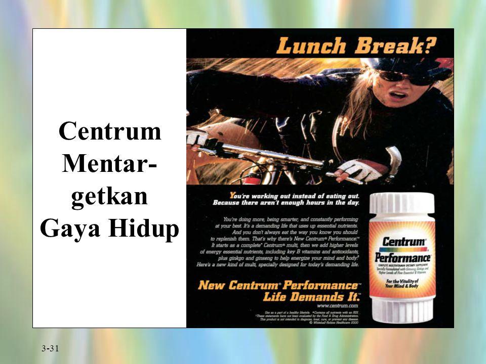 3-31 Centrum Mentar- getkan Gaya Hidup