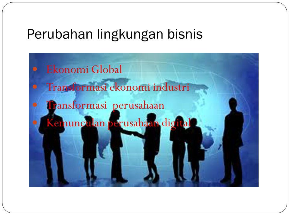 Perubahan lingkungan bisnis Ekonomi Global Transformasi ekonomi industri Transformasi perusahaan Kemunculan perusahaan digital