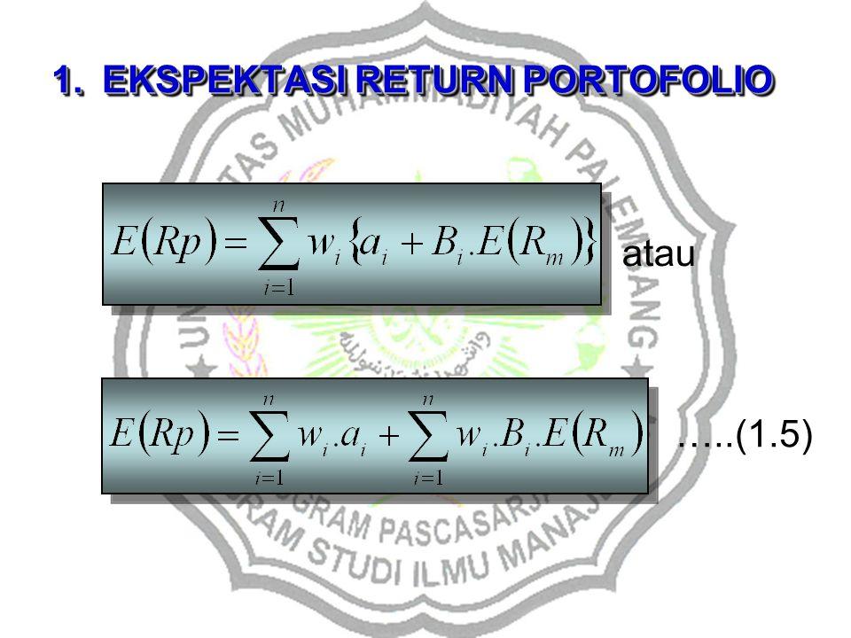 1.EKSPEKTASI RETURN PORTOFOLIO atau …..(1.5)