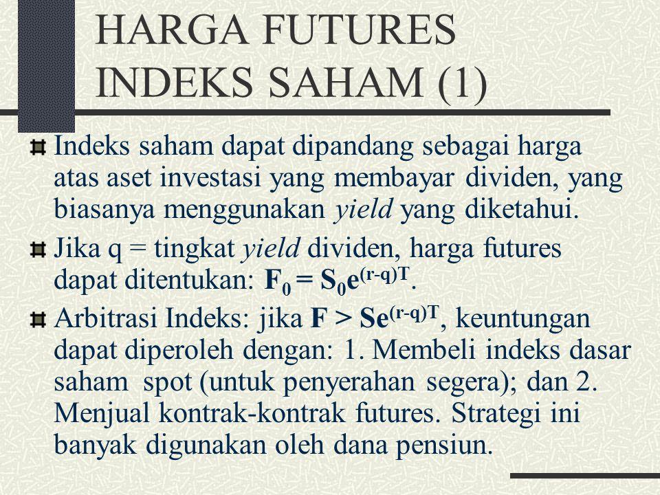 APAKAH PENENTUAN HARGA FORWARD & FUTURE SAMA? (3) Ada sejumlah faktor yang tidak tercermin dalam model teoritikal yang menyebabkan harga forward & fut