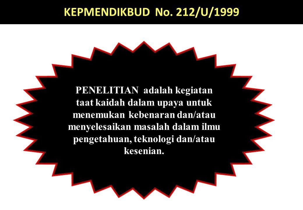 UU RI NO.12 TAHUN 2012 PENDIDIKAN TINGGI Pasal 1 (Butir 10).