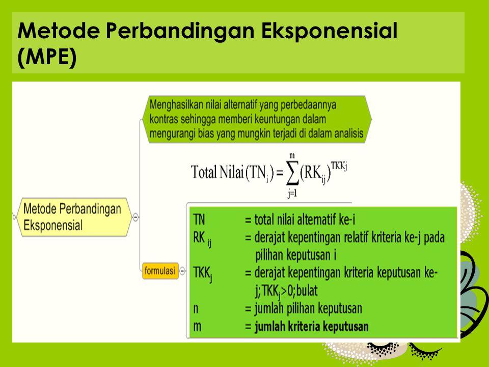 Metode Perbandingan Eksponensial (MPE)