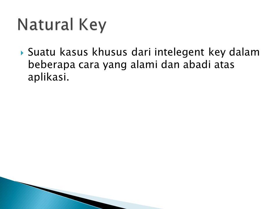  Suatu kasus khusus dari intelegent key dalam beberapa cara yang alami dan abadi atas aplikasi.