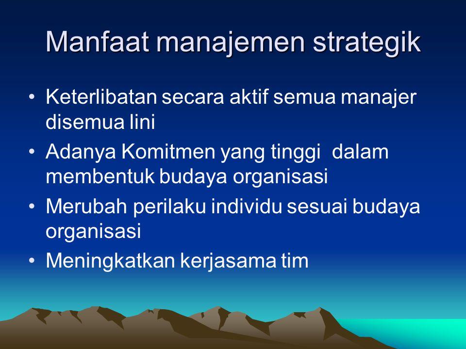 Pertimbangan dalam membuat keputusan strategik Pertimbangan dalam membuat keputusan strategik Isue strategik membutuhkan keputusan manajemen puncak Is