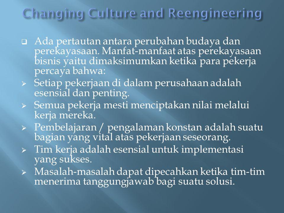  Ada pertautan antara perubahan budaya dan perekayasaan.