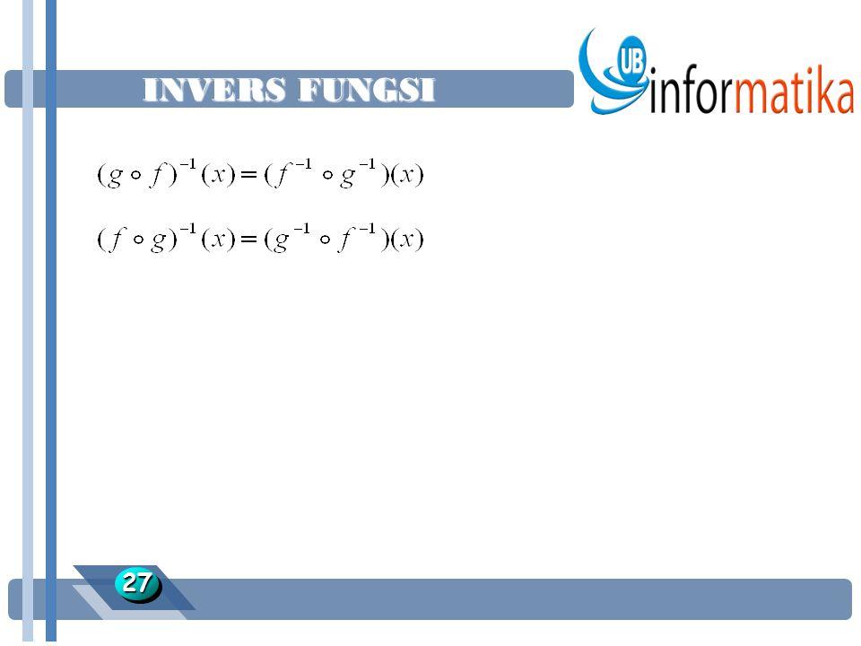 INVERS FUNGSI 2727