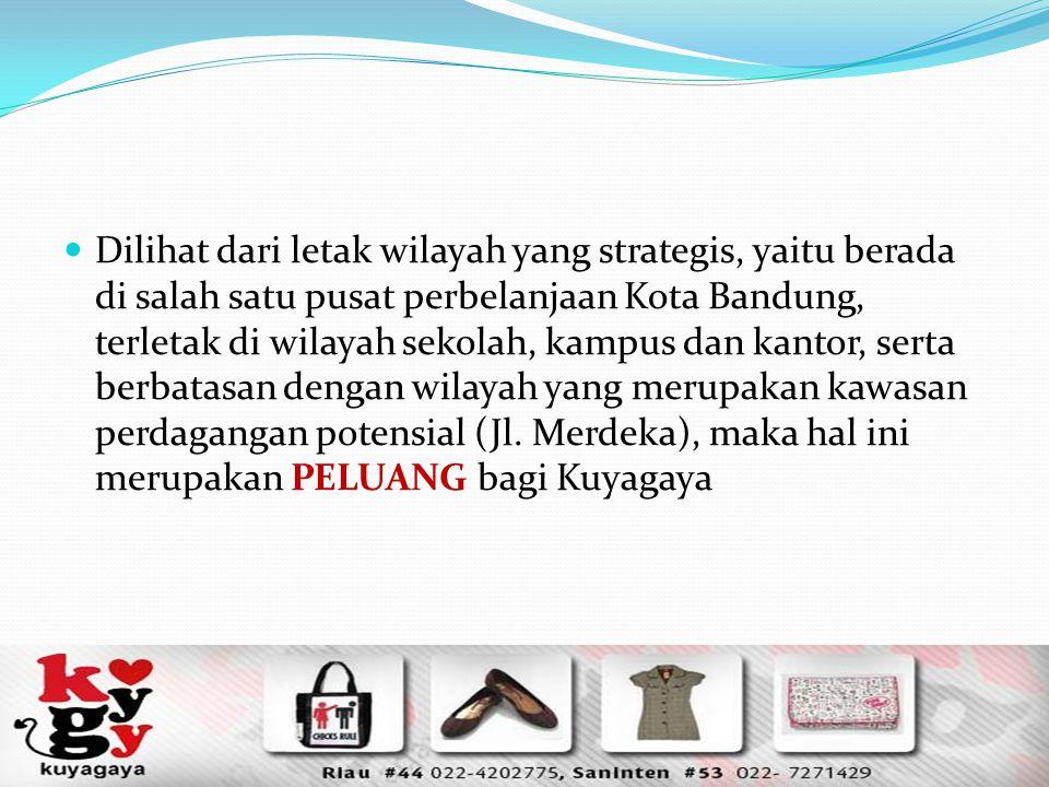 Dilihat dari letak wilayah yang strategis, yaitu berada di salah satu pusat perbelanjaan Kota Bandung, terletak di wilayah sekolah, kampus dan kantor,