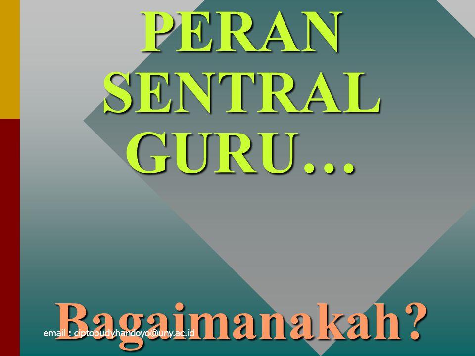 PERAN SENTRAL GURU… Bagaimanakah? email : ciptobudyhandoyo@uny.ac.id
