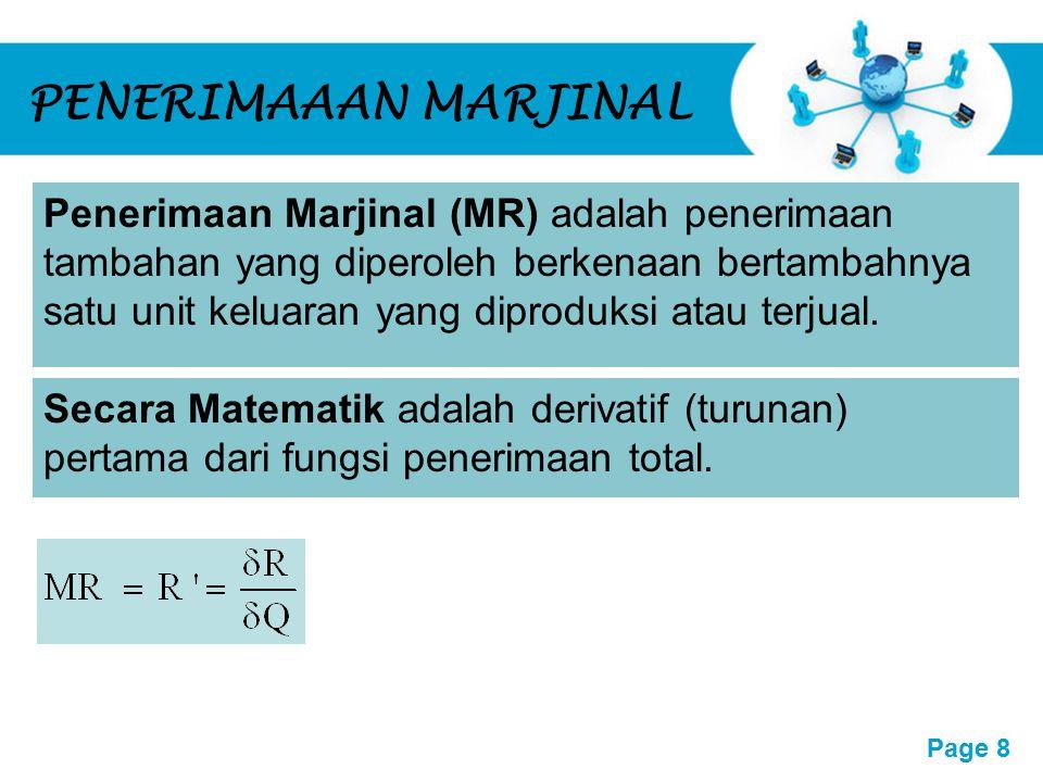 Free Powerpoint Templates Page 9 UTILITAS MARJINAL Utilitas Marjinal (MU) adalah utilitas tambahan yang diperoleh konsumen berkenaan satu unit tambahan barang yang dikonsumsinya.
