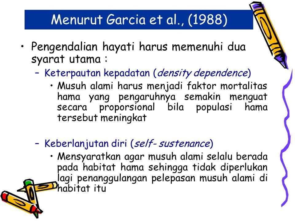 Definisi Pengendalian Hayati Garcia et al.