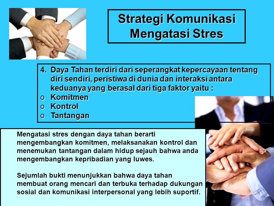 Strategi Komunikasi Mengatasi Stres 5.Kesediaan Memaafkan.