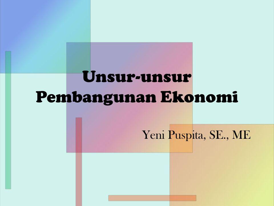 Unsur-unsur Pembangunan Ekonomi Yeni Puspita, SE., ME