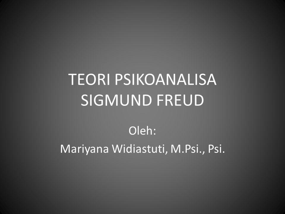 TEORI PSIKOANALISA SIGMUND FREUD Oleh: Mariyana Widiastuti, M.Psi., Psi.